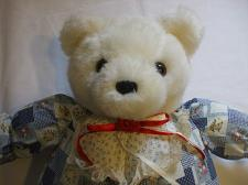 Buy 21 Inch Tall White Teddy Bear Country Outfit