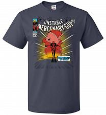 Buy Unstable Mercenary Guy Unisex T-Shirt Pop Culture Graphic Tee (L/J Navy) Humor Funny