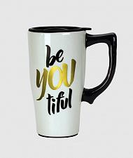 Buy :10487U - Be You Tiful 16oz Ceramic Travel Mug