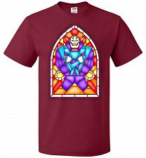 Buy Apocolypse Stained Glass Unisex T-Shirt Pop Culture Graphic Tee (XL/Cardinal) Humor F