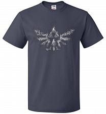 Buy Triforce Smoke Unisex T-Shirt Pop Culture Graphic Tee (L/J Navy) Humor Funny Nerdy Ge