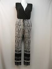 Buy Jumpsuit NY Collection Womens Animal Sleeveless Surplice Straight Legs Size L