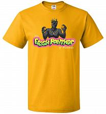 Buy Fresh Panther Unisex T-Shirt Pop Culture Graphic Tee (M/Gold) Humor Funny Nerdy Geeky