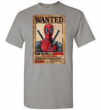 Buy Deadpool Wanted Poster Unisex T-Shirt Pop Culture Graphic Tee (M/Gravel) Humor Funny