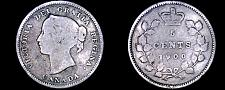 Buy 1900 Canada 5 Cent World Silver Coin - Canada - Victoria
