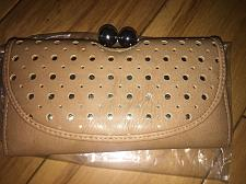Buy Icing Small Clutch Wallet Tan With 10 Credit Card Slots NEW