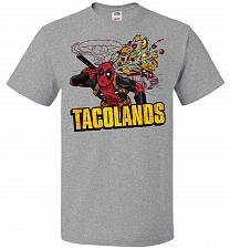 Buy Tacolands Unisex T-Shirt Pop Culture Graphic Tee (4XL/Athletic Heather) Humor Funny N