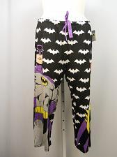 Buy Women Knit Pajama Bottoms BATMAN DC COMICS SIZE XL Batman Straight Cropped Legs