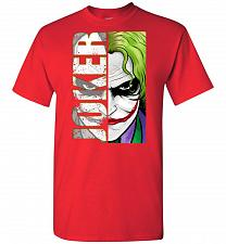 Buy Joker Unisex T-Shirt Pop Culture Graphic Tee (M/Red) Humor Funny Nerdy Geeky Shirt