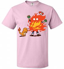 Buy Charred Unisex T-Shirt Pop Culture Graphic Tee (L/Classic Pink) Humor Funny Nerdy Gee