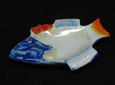 Buy Porcelain Fish Figural Ashtray Snuffer Japan Lustreware Vintage