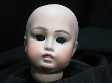 Buy Vintage Bisque Porcelain Doll Head hand painted 3.75 inches tall Socket NOS