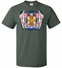 Buy Pink Ranger Unisex T-Shirt Pop Culture Graphic Tee (L/Forest Green) Humor Funny Nerdy