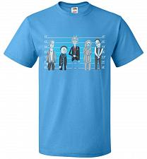 Buy Rick and Morty Unusual Suspects Unisex T-Shirt Pop Culture Graphic Tee (XL/Pacific Bl