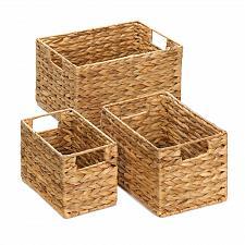 Buy *15228U - Straw Rectangular Nesting Baskets Set of 3