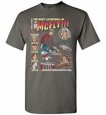 Buy Heavy Adventures Of McFly! Unisex T-Shirt Pop Culture Graphic Tee (3XL/Charcoal) Humo