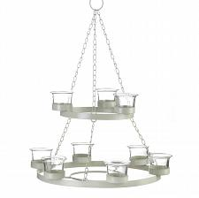 Buy *16075U - Ivory Tree Shaped Metal Framework Star Tealight Chandelier Glass Cups