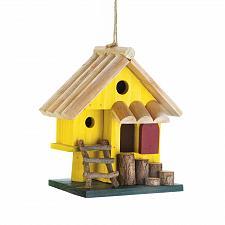 Buy *18416U - Yellow Tree Fort Wooden Birdhouse