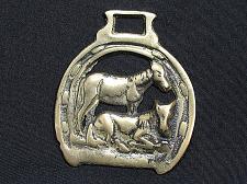 Buy Horse Brass Decorative Tack Bridle Horses Horseshoe Laying Vintage