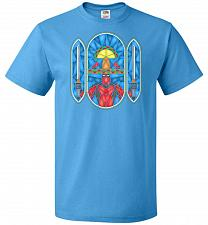 Buy Deadpool Stain Glass Unisex T-Shirt Pop Culture Graphic Tee (XL/Pacific Blue) Humor F