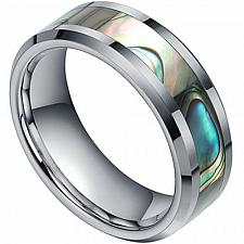 Buy coi Jewelry Titanium Wedding Band Ring With Abalone Shell Inlay