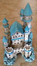 """Buy A sandcastle Sculpture for the princess in your life turquoise color 6"""""""