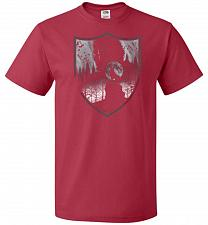 Buy Direwolves House Unisex T-Shirt Pop Culture Graphic Tee (L/True Red) Humor Funny Nerd