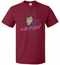 Buy Wicked! Unisex T-Shirt Pop Culture Graphic Tee (M/Cardinal) Humor Funny Nerdy Geeky S