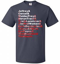 Buy Game Of Thrones Inspired Arya's List Adult Unisex T-Shirt Pop Culture Graphic Tee (S/