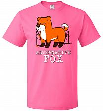 Buy Alternative Fox Unisex T-Shirt Pop Culture Graphic Tee (XL/Neon Pink) Humor Funny Ner