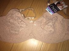 Buy NWT $39 BALI 38C Stretch Lace Underwire Full-Figure Bra Beige Nude 3432