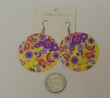 Buy Women Shell Earrings Multi Colored Circles Fashion Drop Dangle Hook Fasteners