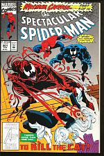 Buy SPECTACULAR SPIDER-MAN #201 VENOM CARNAGE 1st series &print Marvel Comics 1993