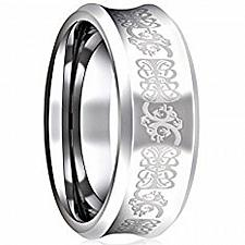Buy coi Jewelry Tungsten Carbide Concave Wedding Band Ring