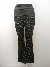 Buy Women MATERNITY DRESS PANT Black Print SIZE XL Skinny Legs Inseam 30