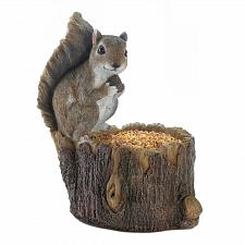 Buy *18251U - Squirrel Tree Trunk Bird Feeder Garden Statue