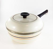 Buy Vintage Regal Ware Cast Aluminum Sauce Pan Pot Tan with Stripes 8 Inch Cookware