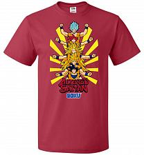 Buy Altered Saiyan Unisex T-Shirt Pop Culture Graphic Tee (S/True Red) Humor Funny Nerdy