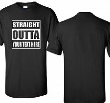 Buy Custom Straight Outta Graphic T-Shirt Compton Personalized SM - 6XL