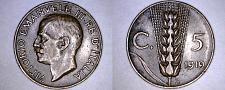 Buy 1919-R Italian 5 Centesimi World Coin - Italy