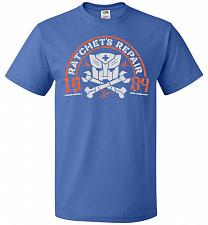 Buy Transformers Ratchet's Repair Adult Unisex T-Shirt Pop Culture Graphic Tee (M/Royal)