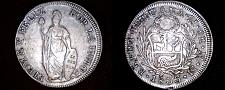 Buy 1833LIMAE-MM Peruvian 8 Reales World Silver Coin - Peru