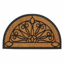 "Buy *17416U - Entry Way Rubber & Coir 30"" Door Mat Half Moon"