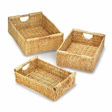 Buy *17945U - Maize Straw 3pc Nesting Basket Set