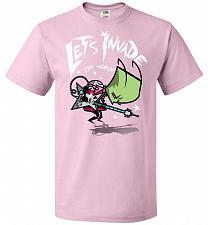 Buy Zim Pilgrim Unisex T-Shirt Pop Culture Graphic Tee (2XL/Classic Pink) Humor Funny Ner