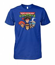 Buy Bounty Hunting Ninja Cowboys Unisex T-Shirt Pop Culture Graphic Tee (S/Royal) Humor F