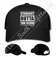 Buy Custom Personalized Straight Outta Your Text Baseball Hat Ball Cap