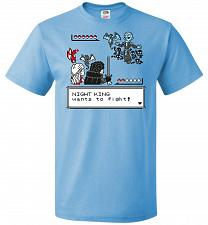 Buy Throne Battle 2 Unisex T-Shirt Pop Culture Graphic Tee (XL/Aquatic Blue) Humor Funny