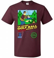 Buy Happy Golf Nintendo Parody Cover Adult Unisex T-Shirt Pop Culture Graphic Tee (2XL/Ma