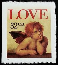 Buy 1996 32c Love Cherub, self-adhesive Scott 3030 Mint F/VF NH